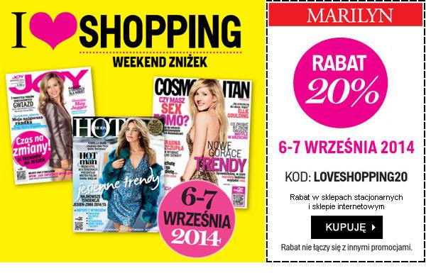 Weekend zniżek  z magazynami JOY, HOT i Cosmopolitan. I LOVE SHOPPING - Rabat -20%